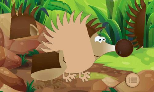 森林动物拼图图片