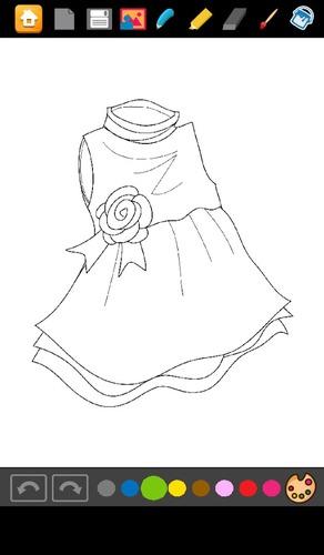 着色:连衣裙的女孩