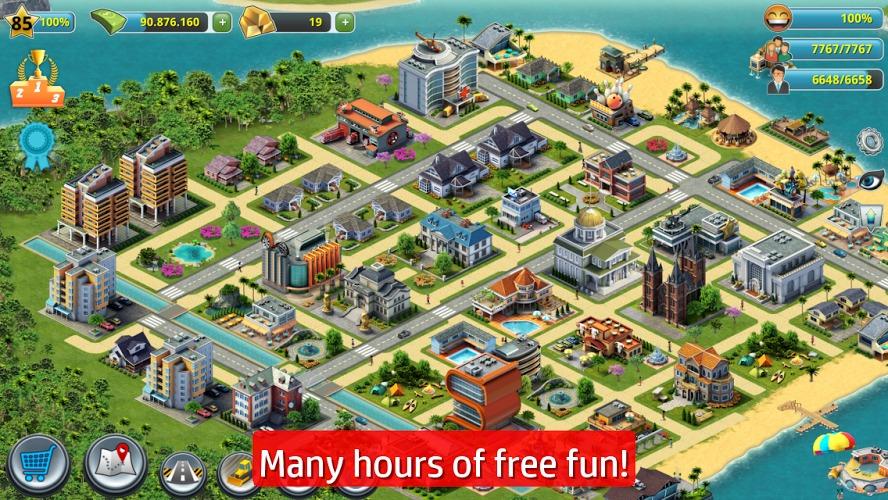 城市岛屿3:建筑模拟 本游戏由炫彩互动转载自互联网、提供免费下载,不承担客服支持,如有问题,请及时反馈。《城市岛屿3:建筑模拟 City Island 3 - Building Sim》:城市岛屿3是一款十分真实的建筑模拟游戏,除了建筑的设计以外,还需要设计你的城市的各种模块,包括就业机会等软设施。 119手游网官网不仅提供城市岛屿3:建筑模拟最新手机版的免费下载,而且提供城市岛屿3:建筑模拟手游的各种攻略和资讯,敬请关注。